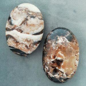 Black Opal Jasper Palmstone